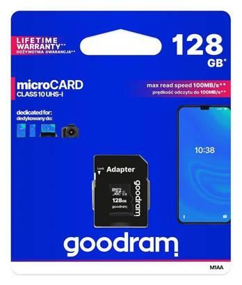 Karta pamięci microSDXC GOODRAM 128GB cl10 UHS I + adapter