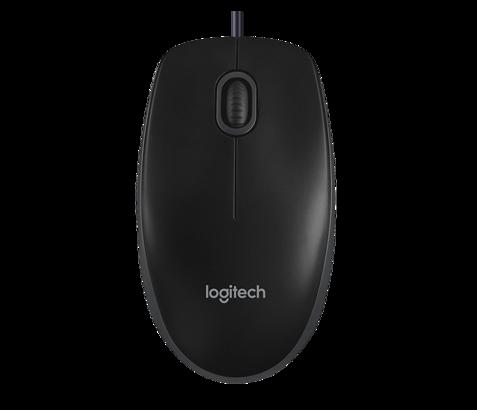 Mysz Logitech B100 Optyczna Czarna USB 800DPI